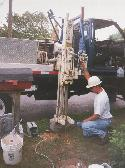 Operating a probing (Geoprobe <sup>TM</sup>) system.