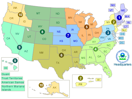 Maps EPA Web Design US EPA - United states map with abbreviations and names