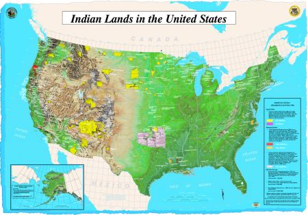 Map: Indian Lands and Native Entities in the United States