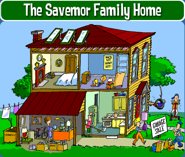 The savemor family home recycle city u s epa for Reuse of waste material at home