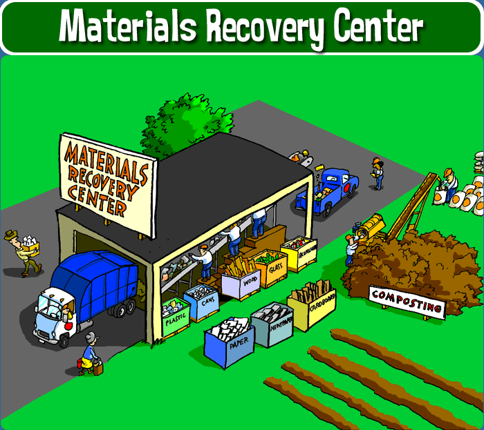 Materials recovery center recycle city u s epa for Household hazardous waste facility design