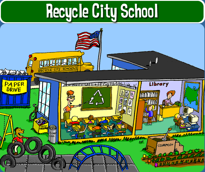 Recycle things for school