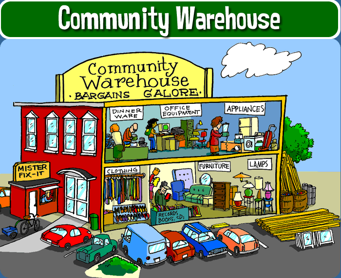 Community warehouse recycle city u s epa for Household waste recycling centre design